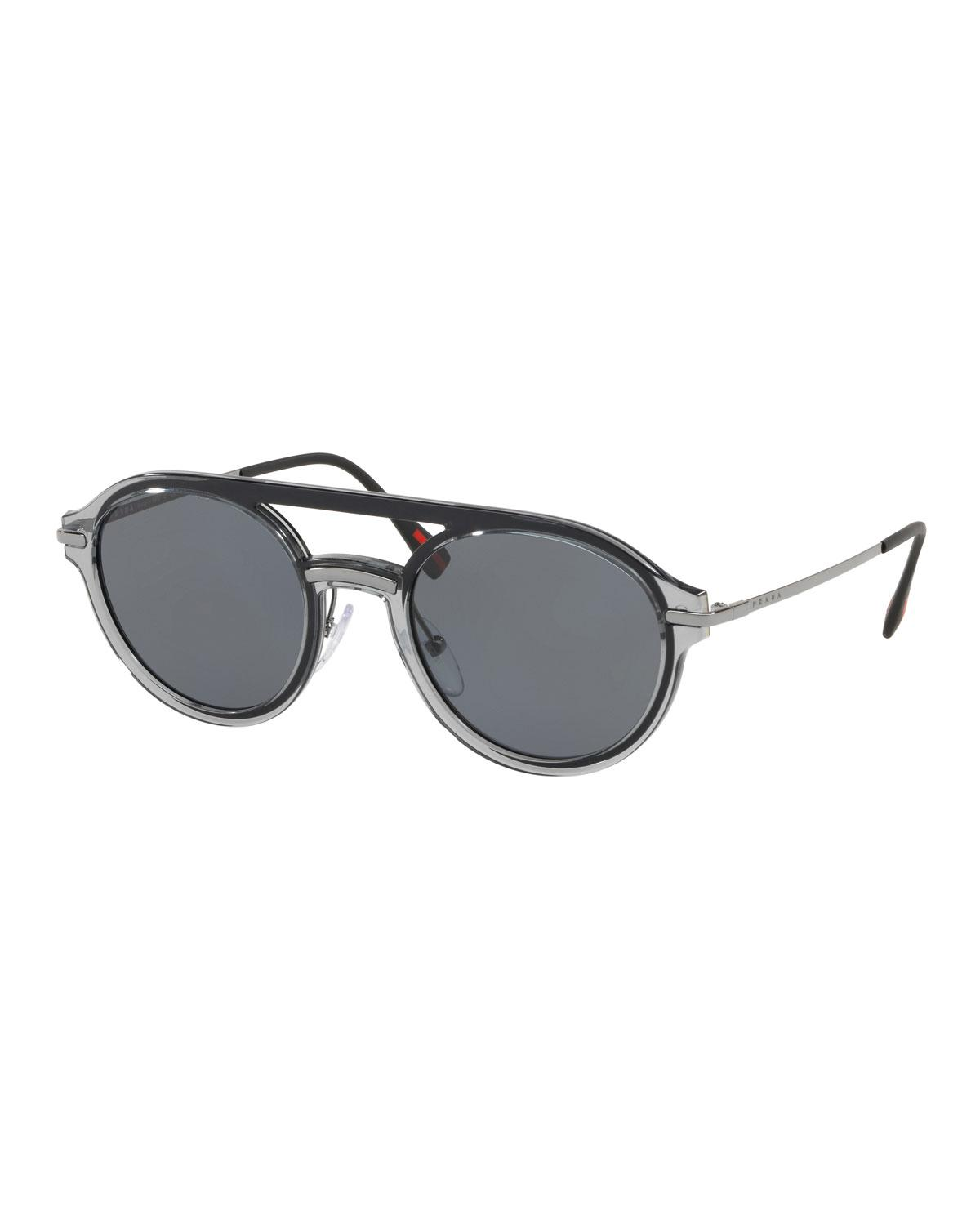 d48cf4581d71 Gallery. Previously sold at  Bergdorf Goodman · Men s Round Sunglasses ...