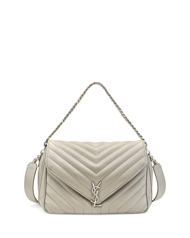 c5c7f9b607d4 Saint Laurent Monogram Large Slouchy Matelassé Leather Shoulder Bag ...