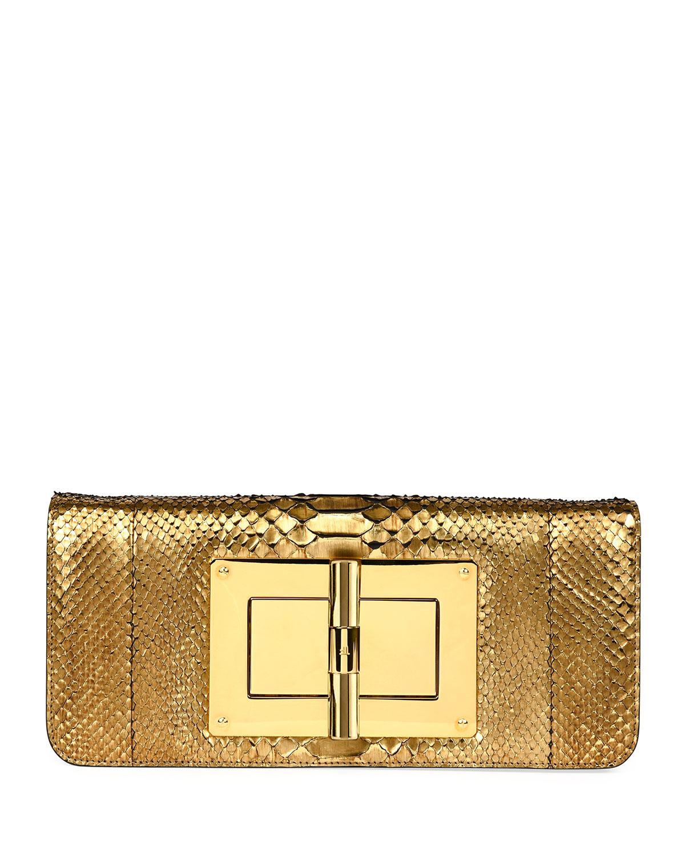 Tom Ford Gold Glittered Plexi-glass Clutch Z4jxHK