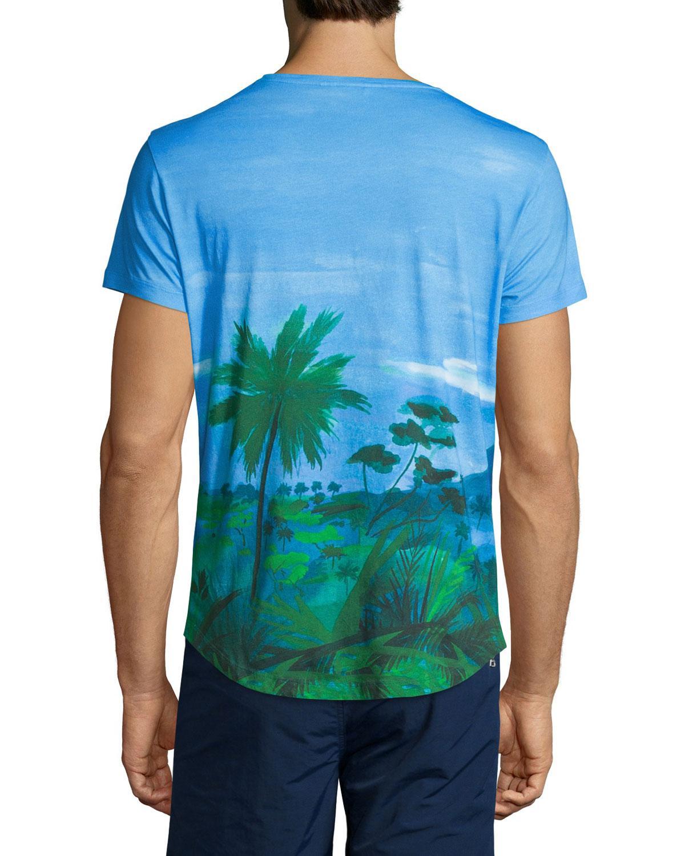Lyst Orlebar Brown Jungle Vista Digital Print Short Sleeve T Shirt