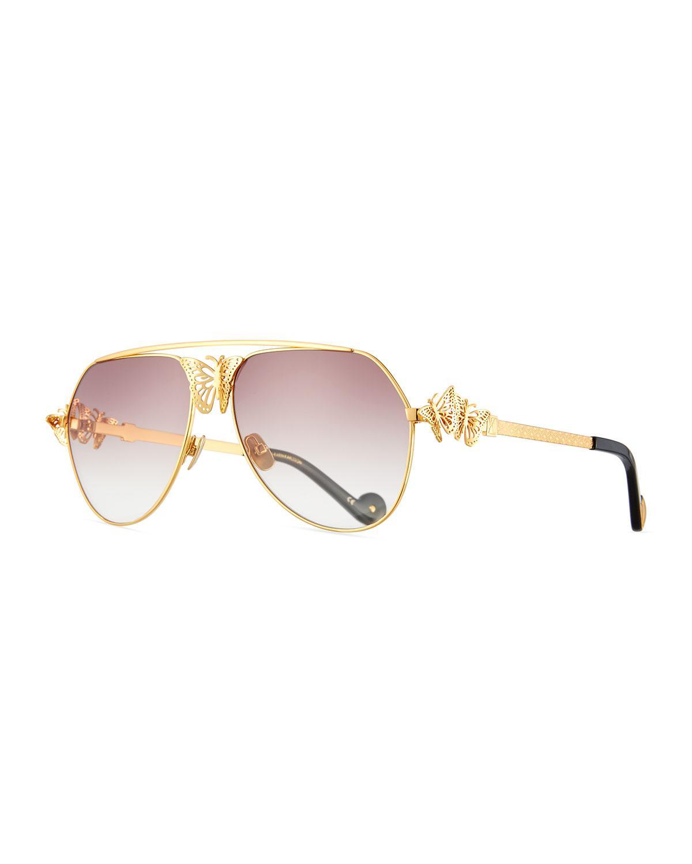 c78ecbc4ab Anna Karin Karlsson Miss Rosell Butterfly Aviator Sunglasses in ...