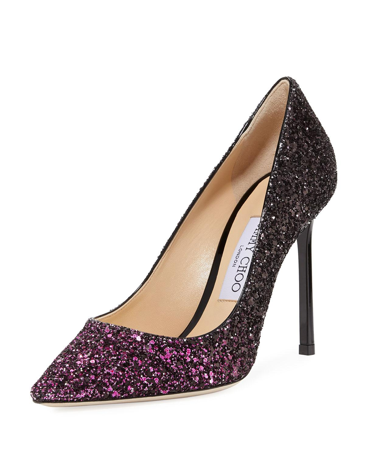 20ba4f77c04 Gallery. Previously sold at  Bergdorf Goodman · Women s Pointed Toe Pumps  Women s Jimmy Choo Glitter ...