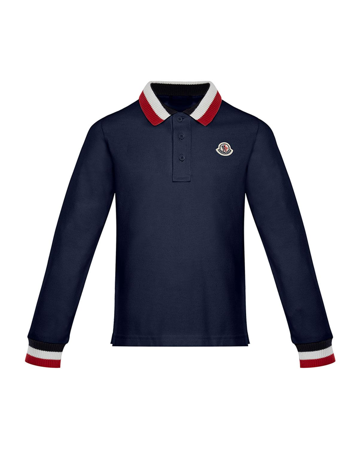 9795ffa0abba Lyst - Moncler Maglia Long-sleeve Polo Shirt in White for Men