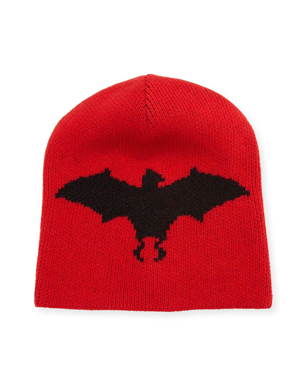 0c430b9129b Gucci Bat Intarsia Hat in Red - Save 8% - Lyst