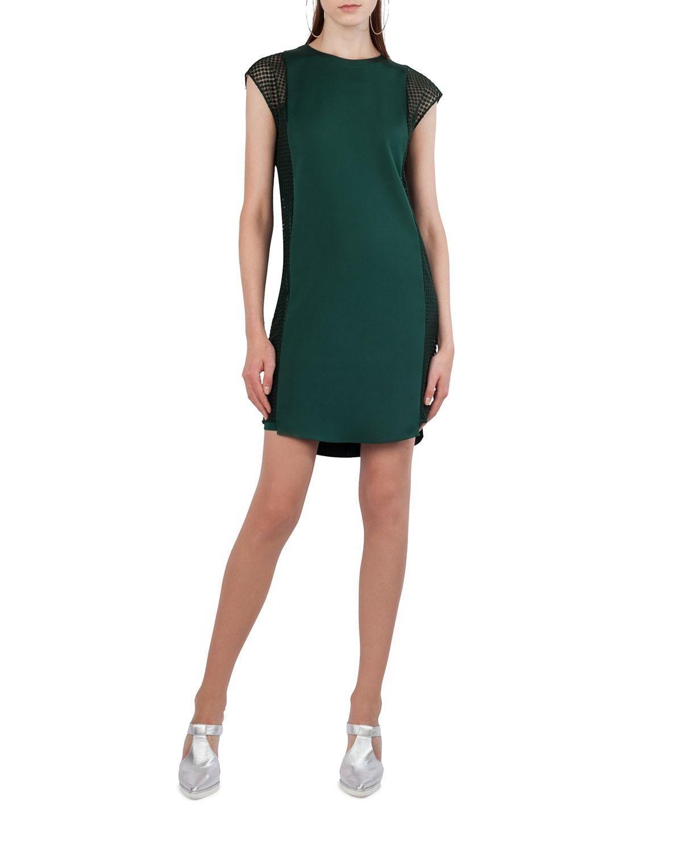 d7b49702f7 Akris Punto Dot Tulle Cap-sleeve Shift Dress in Green - Lyst
