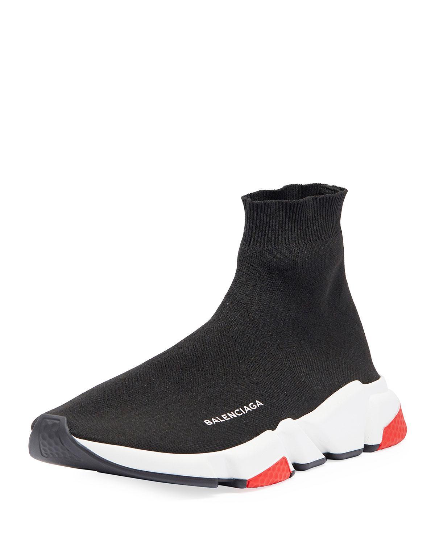 ab3eac9d4681 Balenciaga - Black Men s Speed Mid-top Trainer Sock Sneakers for Men - Lyst.  View fullscreen