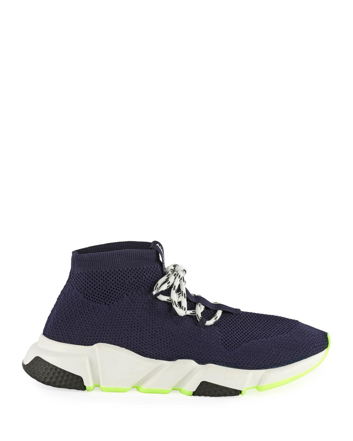 cbed5a998dc6 Lyst - Balenciaga Atlantic Blue Speed Fabric Sneakers in Blue for Men - Save  22%