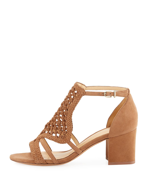 d0bdc5612 Lyst - Alexandre Birman Carmella Woven Suede Sandals in Natural