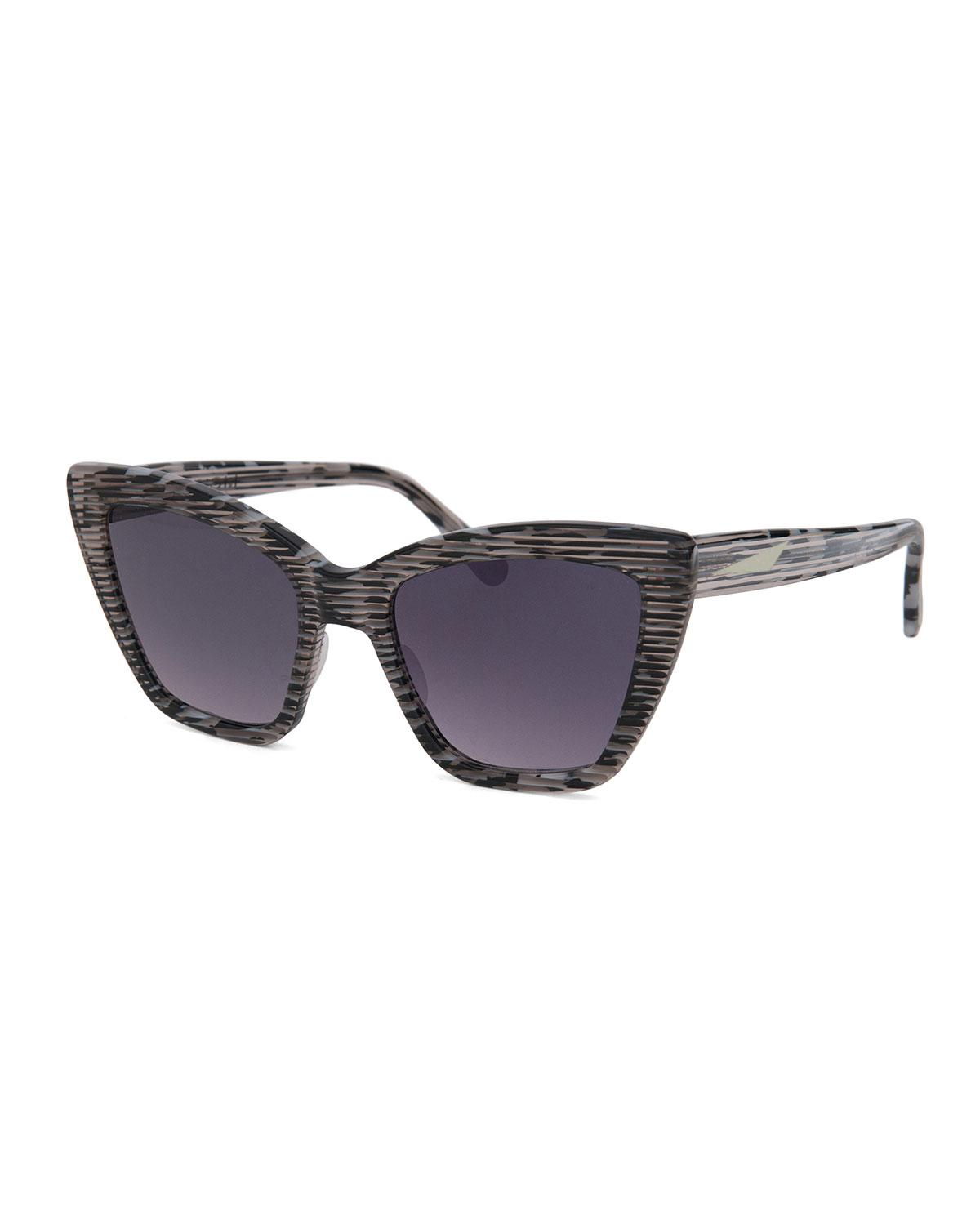 Prism Woman Cat-eye Acetate Sunglasses Violet Size Prism