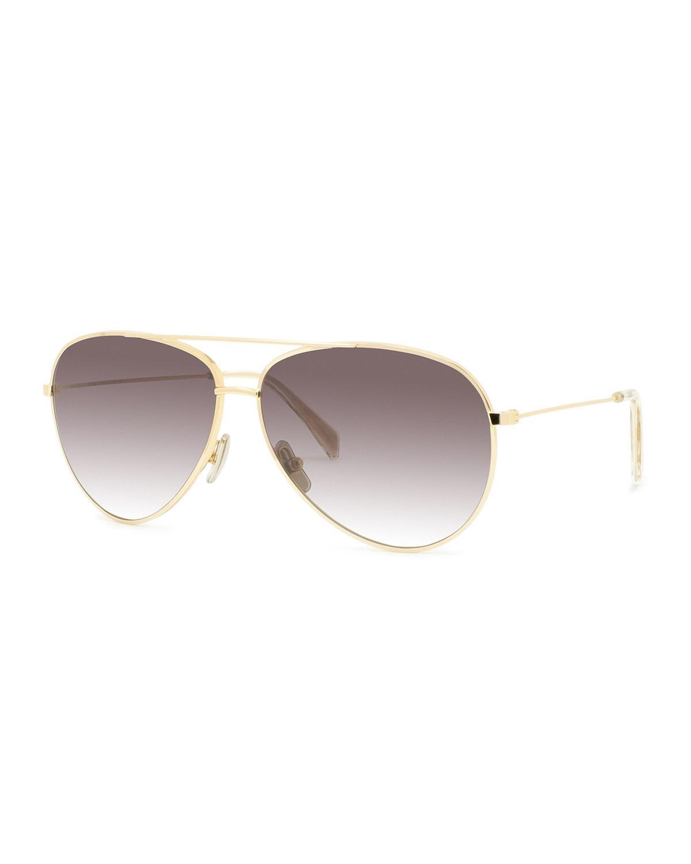 0a7da3a04e7 Lyst - Céline Aviator Gradient Sunglasses in Gray