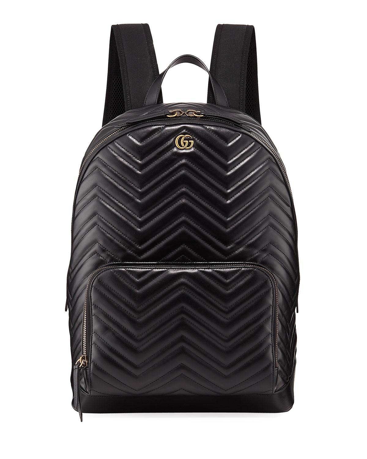 1fd62e8c9dd1 Lyst - Gucci Men s GG Marmont Quilted Leather Backpack in Black