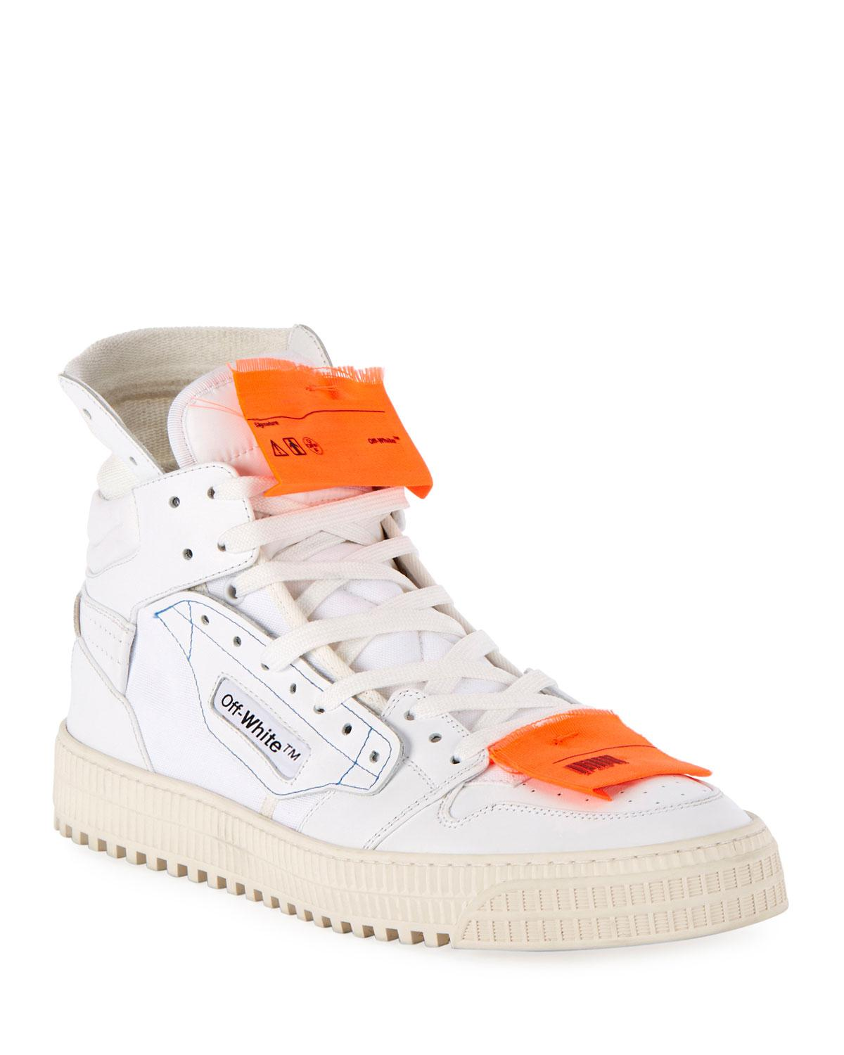 ef9fd350b7f9c Off-White c o Virgil Abloh. White Men s Low 3.0 Leather High-top Sneakers