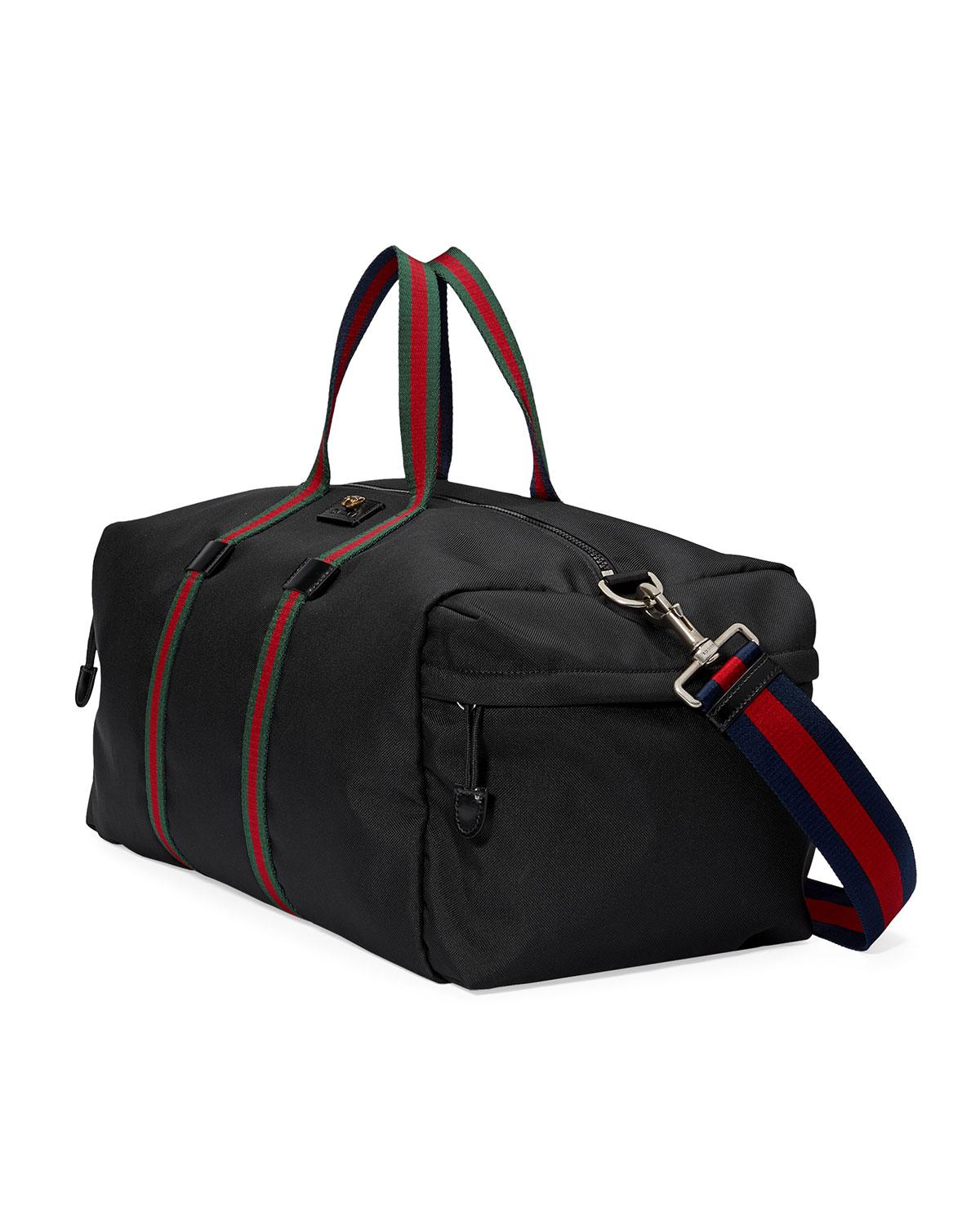 0d29c698ff1a Lyst - Gucci Technical Canvas Duffle Bag in Black for Men