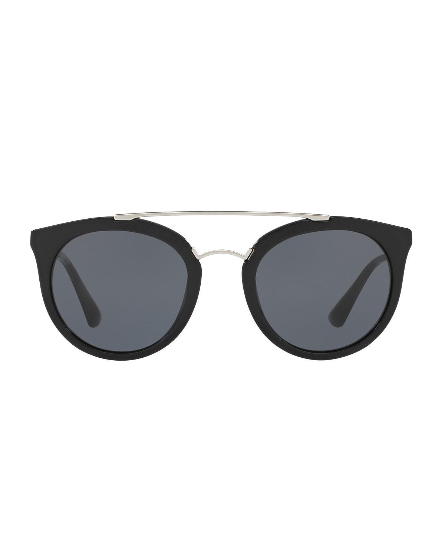 e311c1a28af ... norway lyst prada monochromatic double bridge cat eye sunglasses f22e9  606f9