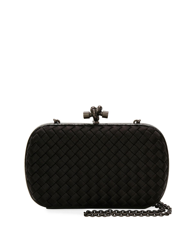 37e2f9aa1b Lyst - Bottega Veneta Medium Chain Knot Clutch Bag in Black