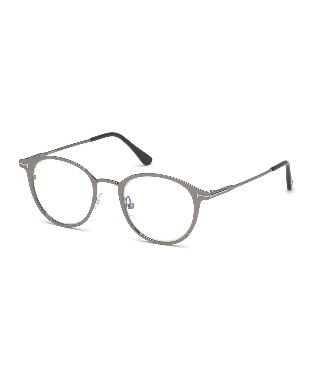 ee409ea585 Tom Ford Men s Blue Light-blocking Oval Metal Optical Glasses in ...