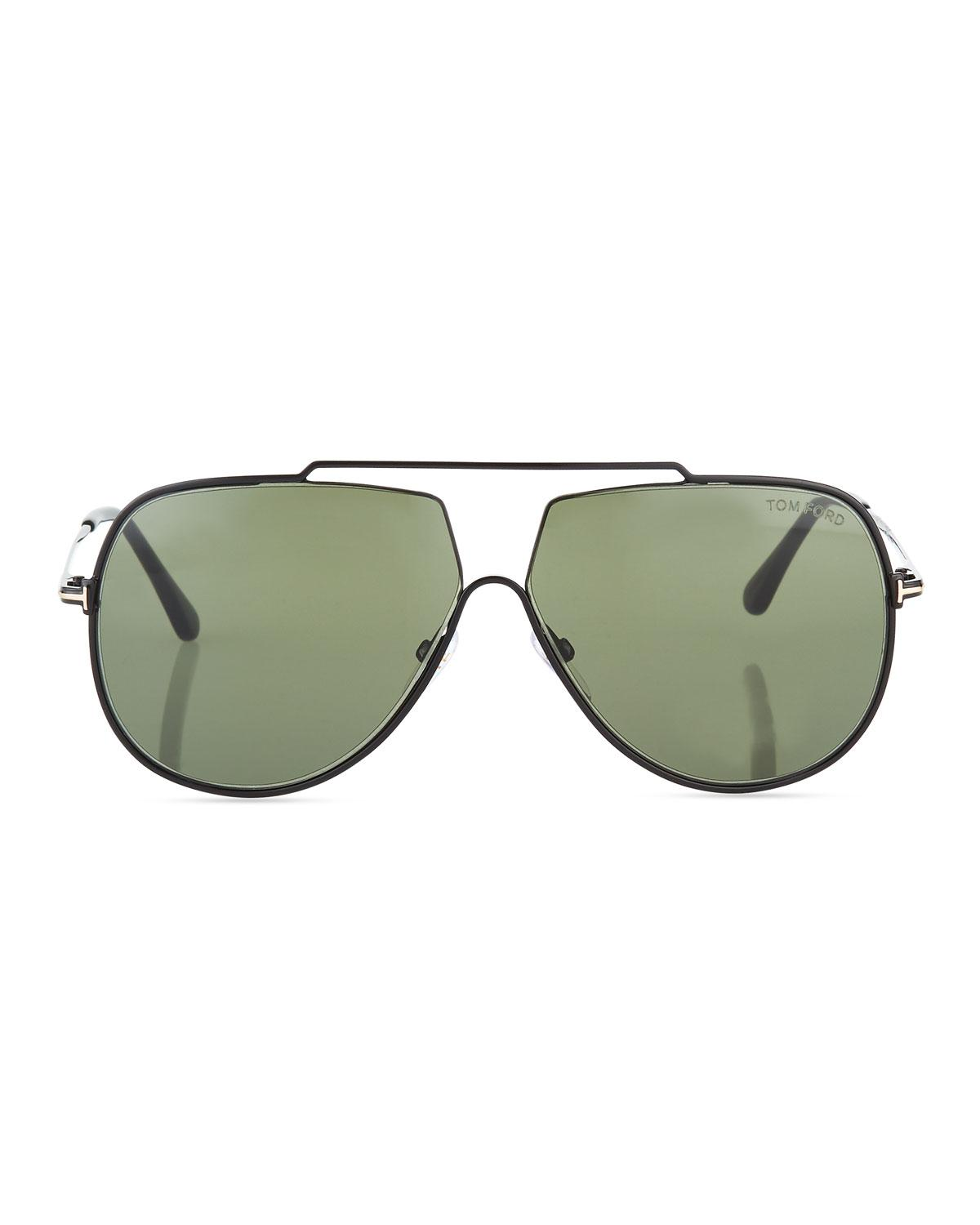 d91bed9998f7 Lyst - Tom Ford Chase Double-bar Aviator Sunglasses in Green for Men