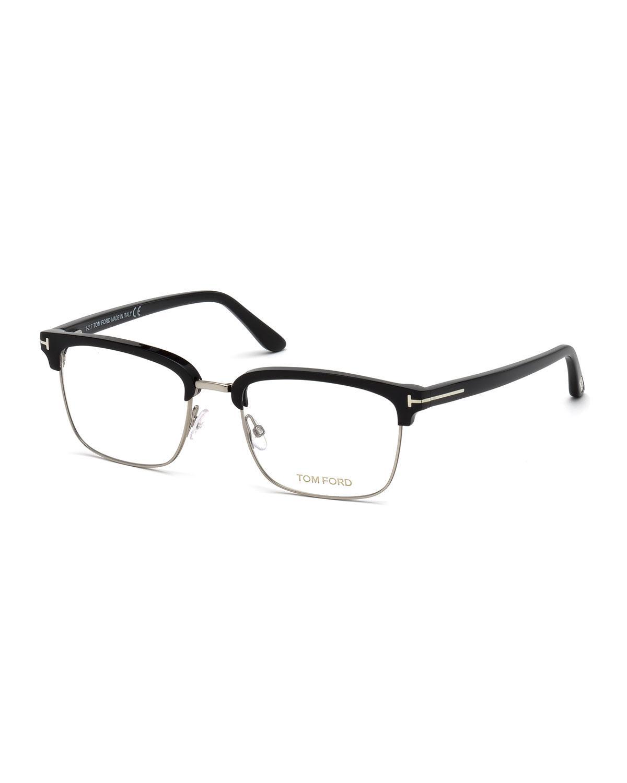 78dd56df0ab ... Men s Square Metal plastic Half-rim Optical Glasses - Silvertone. View  fullscreen