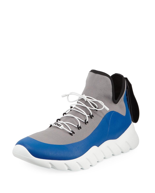 Fendi Vocab High-Top Sneakers ZDYUdxE5P3