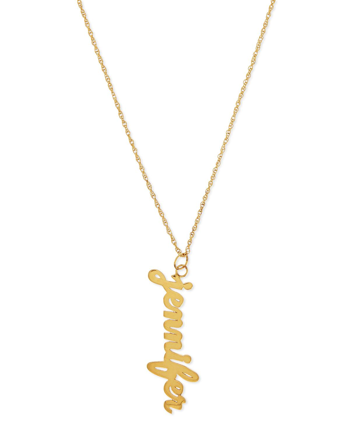 Jennifer Zeuner Serafina Vertical Gold Vermeil Necklace FmlvD