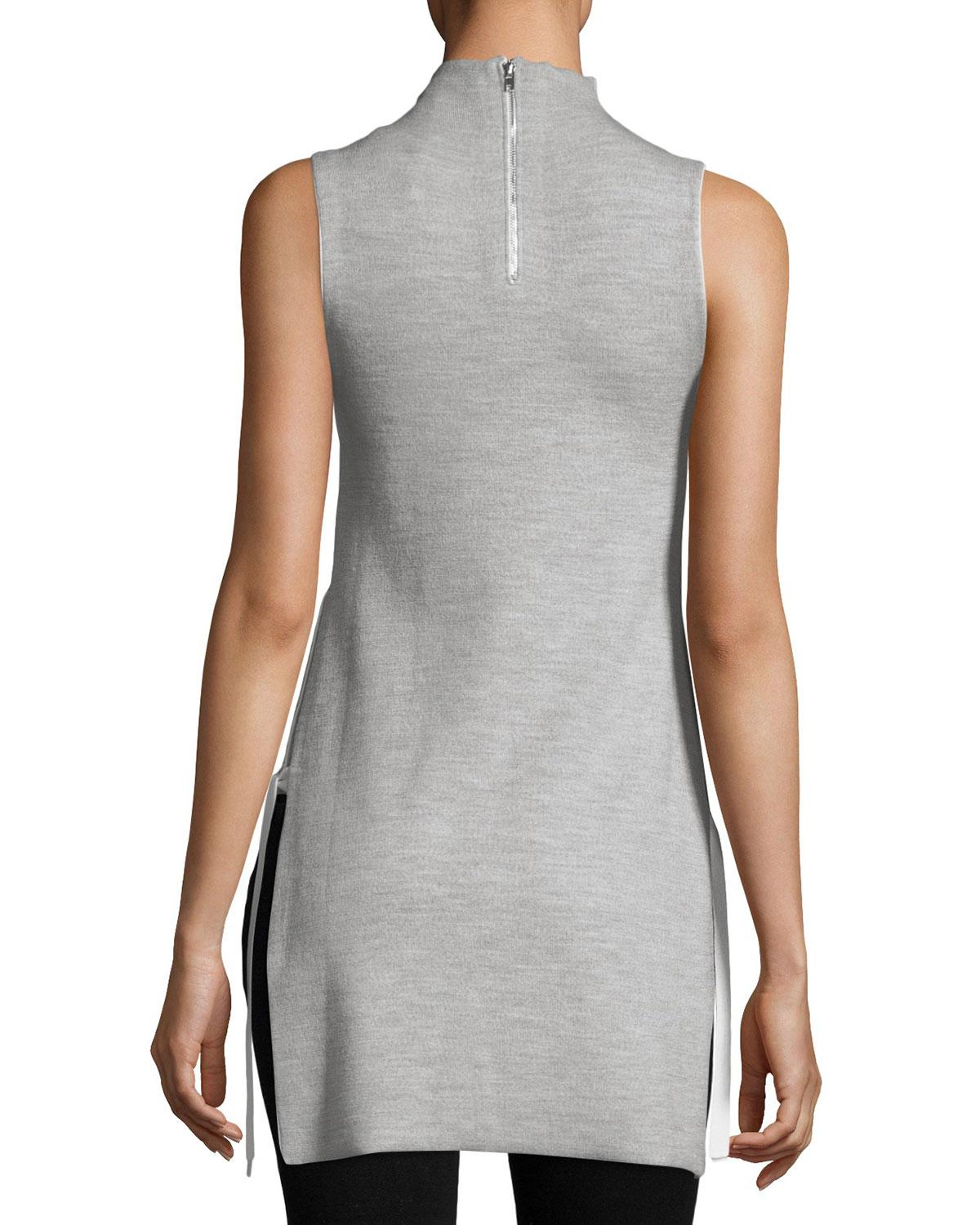 1375952a61f15 Lyst - Alice + Olivia Alvera Mock-neck Tunic With Ties in Gray - Save 2%