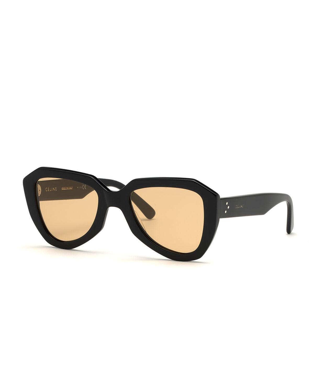 aba90cf54d4 Lyst - Céline Acetate Aviator Sunglasses in Black