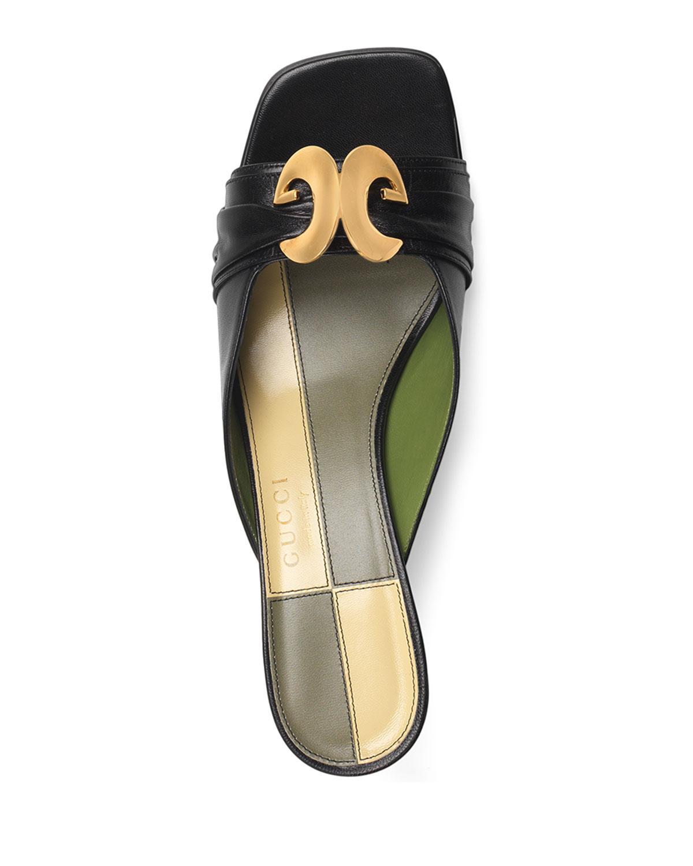 d47c9b09073 Lyst - Gucci Usagi 55mm Leather Slide Pumps in Black