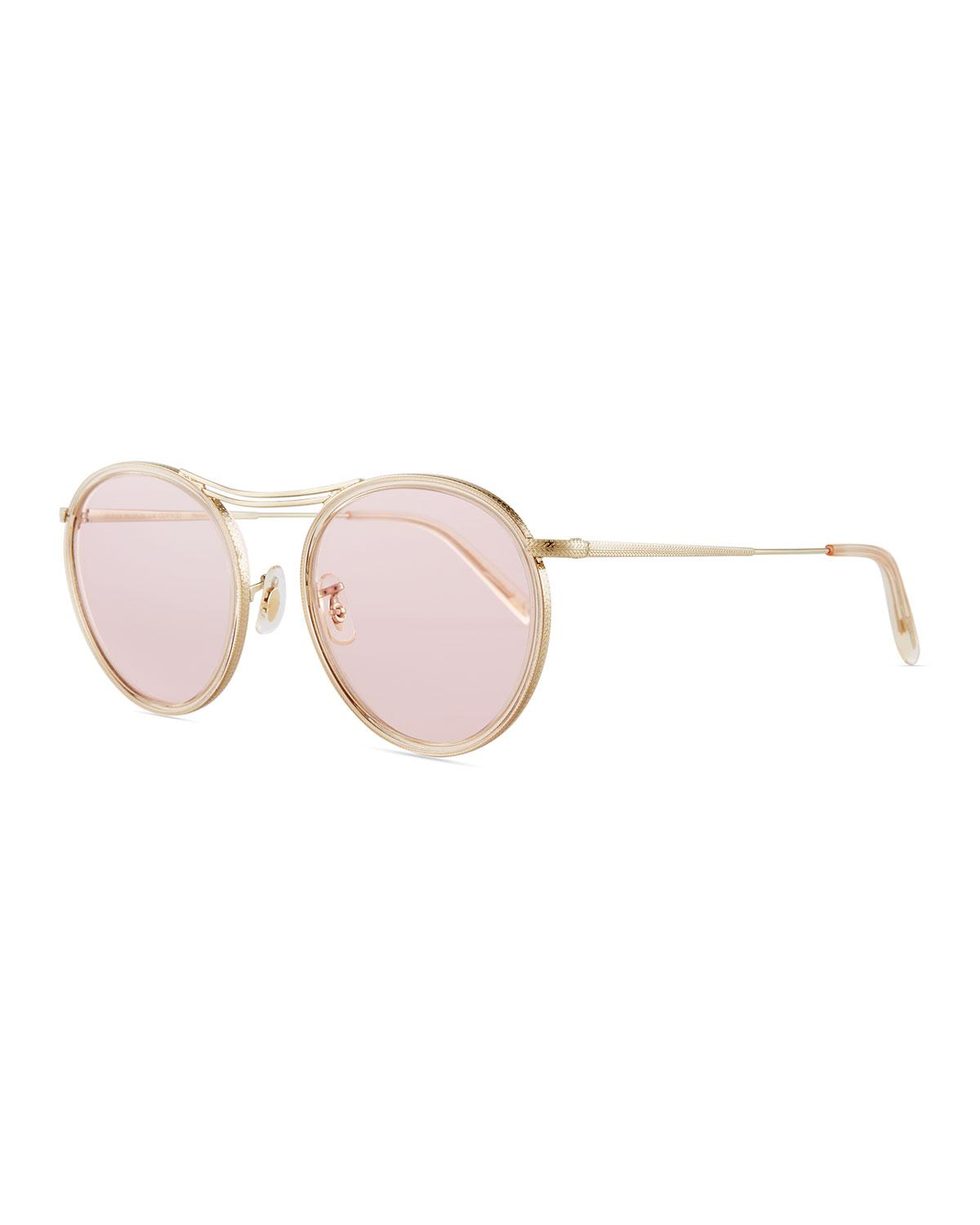 Oliver peoples Mp-3 30th Round Photochromic Sunglasses in Metallic ...