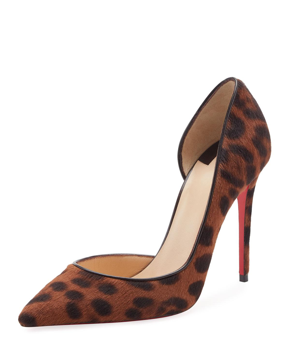 7640590de043 Christian Louboutin - Brown Iriza Leopard-print Half-d orsay Red Sole Pump