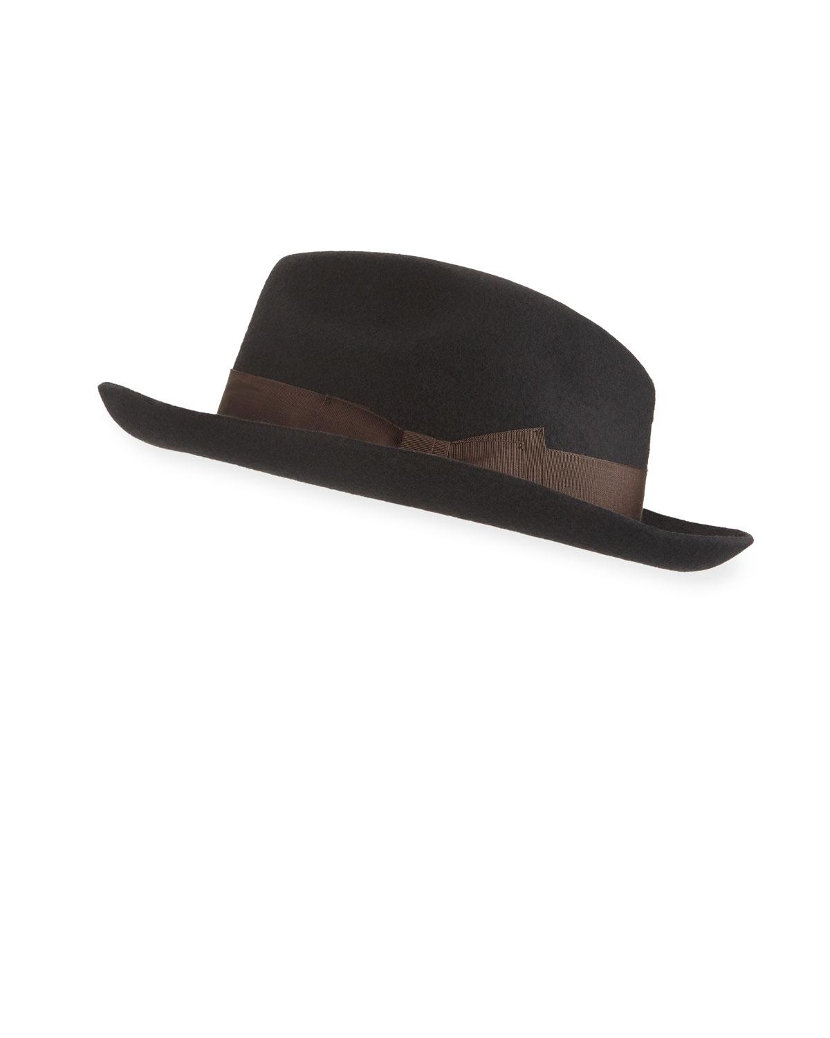 Lyst - Paul Smith Mayfair Fedora Hat in Black for Men cb2fc035a1cb