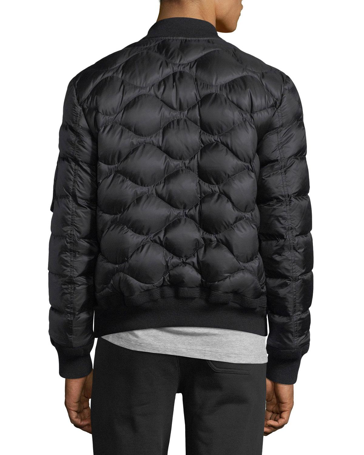 c9396cd74ae6 Lyst - Moncler Bertrand Leather Jacket in Black for Men