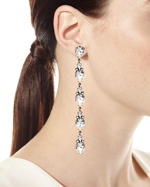 Auden Olivia Linear Crystal Drop Earrings qsPtJynOO