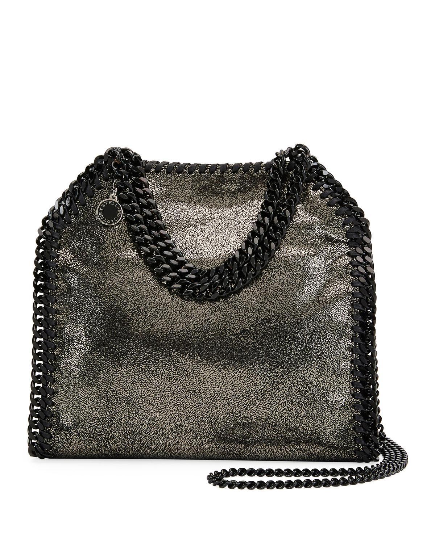 b7afba128106 Stella McCartney. Women s Gray Falabella Tiny Metallic Dot Shoulder Bag -  Black Hardware