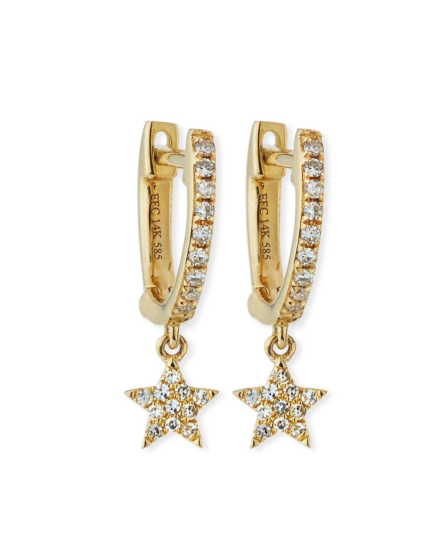 EF Collection 14k Mini Huggie Diamond Heart Drop Earrings HNqQx3