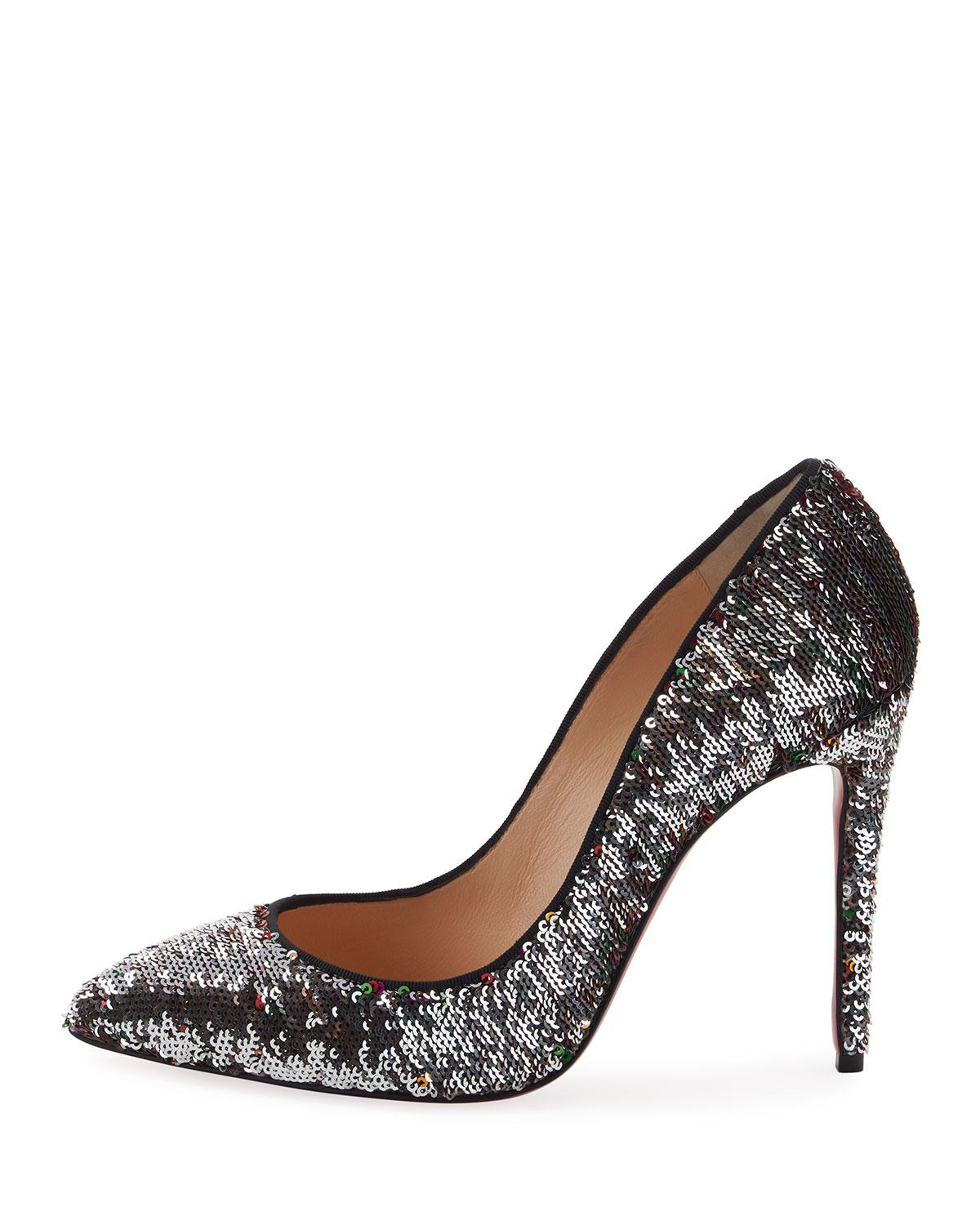 580026b6a86 Lyst - Christian Louboutin Pigalle Follies 100 in Black