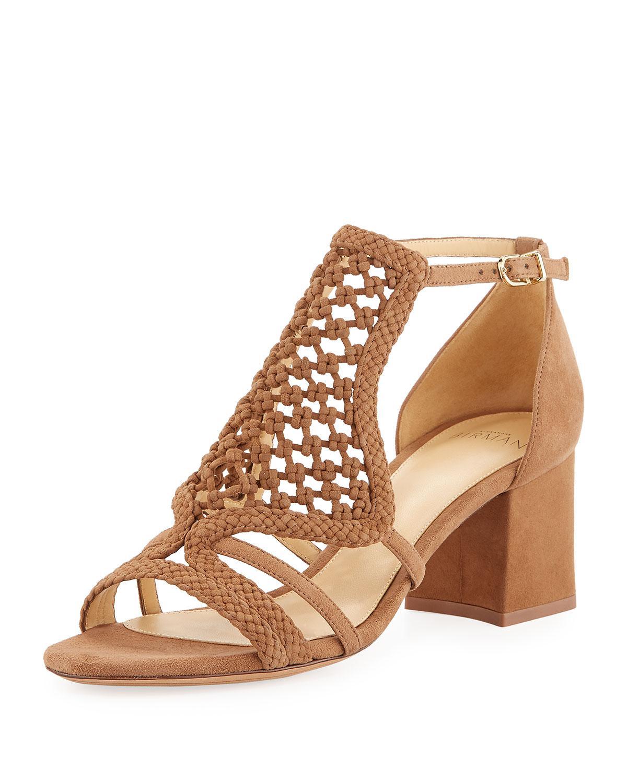 c3af80614e8b Lyst - Alexandre Birman Carmella Woven Suede Sandals in Natural