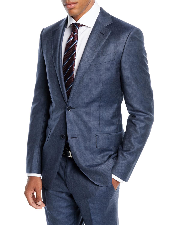 Lyst - Ermenegildo Zegna Men s Tonal Plaid Two-piece Wool Suit in ... 9e6d08acc828