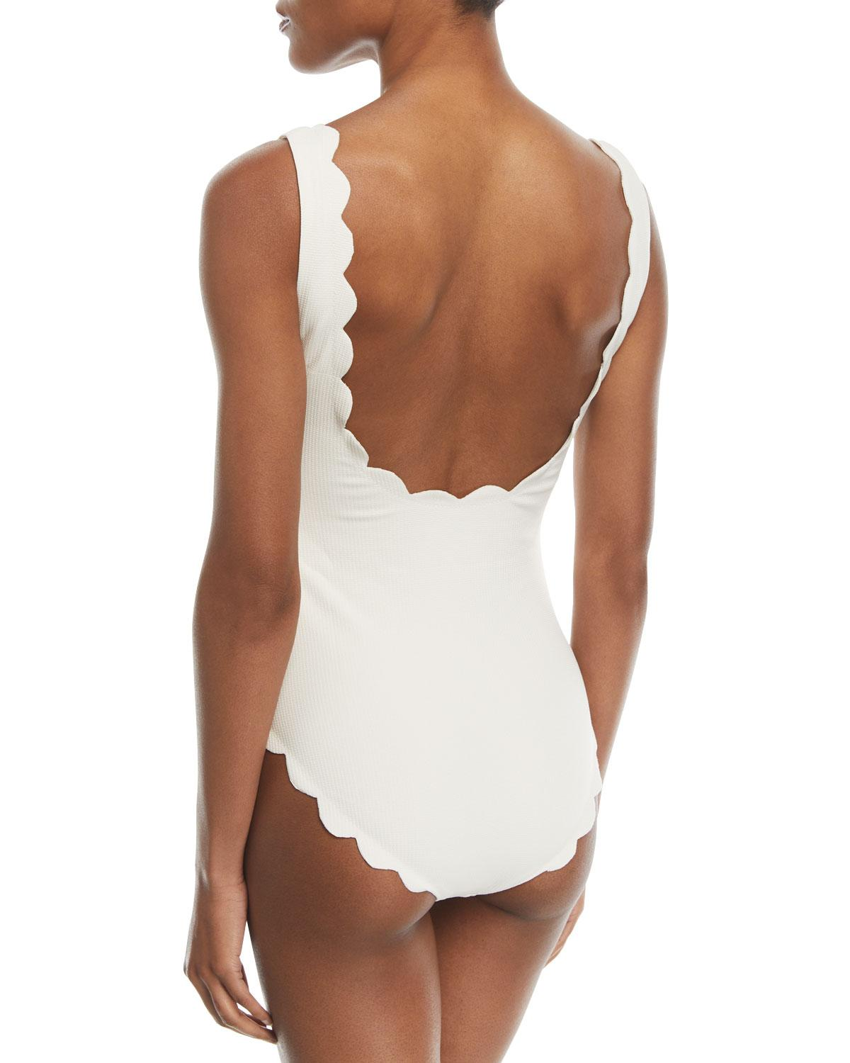 39db731ce0db Lyst - Marysia Swim Palm Springs Scalloped One-piece Swimsuit in White -  Save 5%