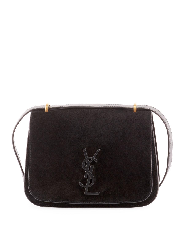 7e248facf7 Saint Laurent Monogram Ysl Spontini Small Satchel Bag in Black - Lyst