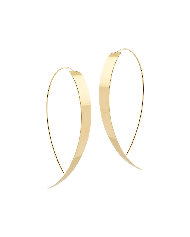 Lana Jewelry Bond Small Vanity Hooked on Hoop Earrings in 14K Rose Gold HLRR76