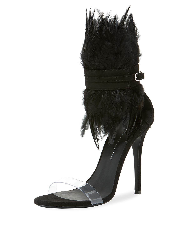 c5acdba8feb Giuseppe Zanotti - Feather High Red Sole Sandals - Lyst. View fullscreen