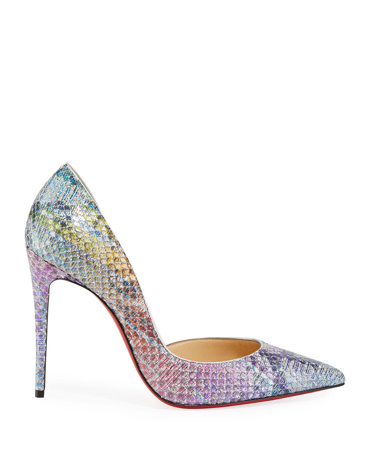 507359ac1dbd Lyst - Christian Louboutin Iriza Python Unicorn Red Sole Pumps in Natural