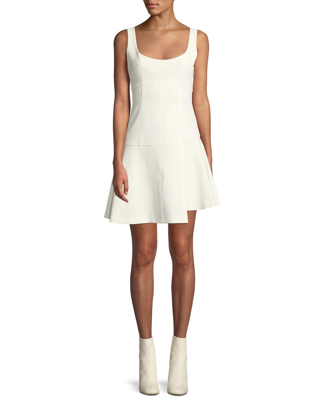 47b3337f41d8 Cinq À Sept Annette Scoop-neck Sleeveless Fit-and-flare Mini Dress ...