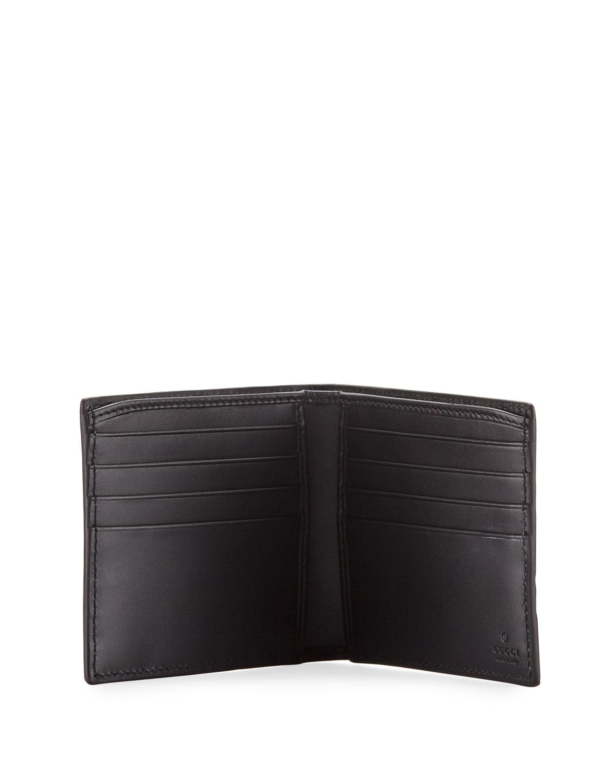 d5871f5f2929 Gucci Logo-embossed Signature Web Wallet in Black for Men - Lyst