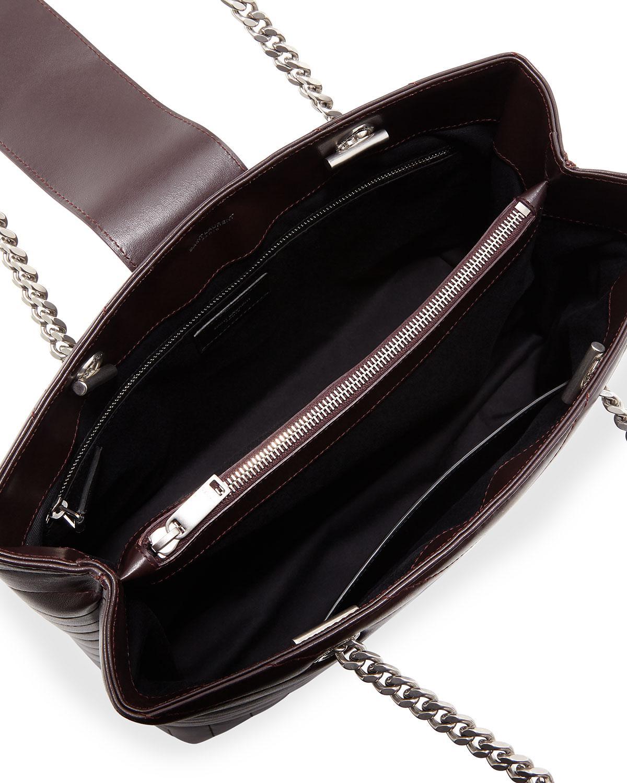 e10345391a23 Lyst - Saint Laurent Loulou Monogram Ysl Large Quilted Shoulder Tote Bag -  Nickel Oxide Hardware in Black