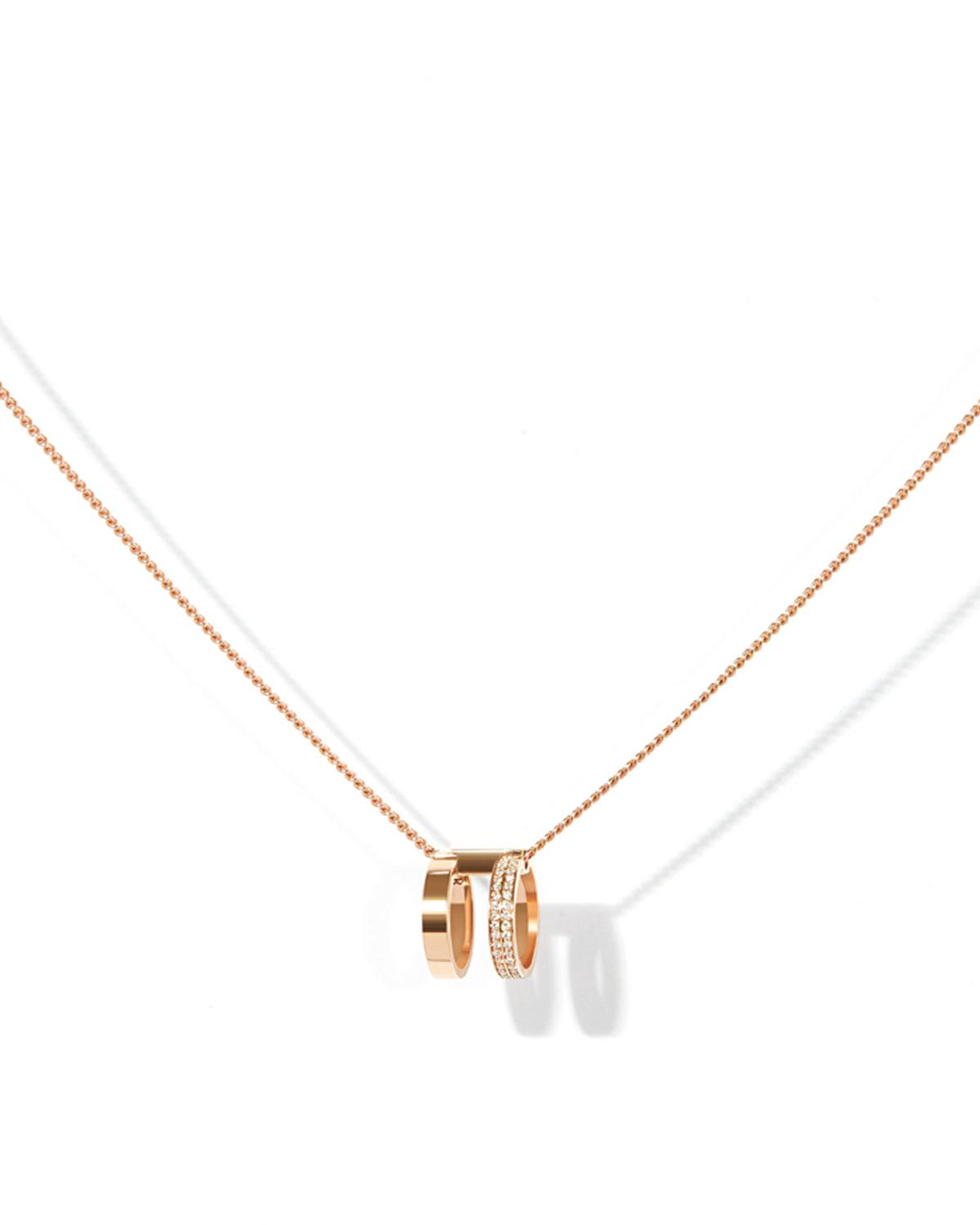 Repossi Two-Row Pendant Necklace in 18K Rose Gold LlgpnwZ