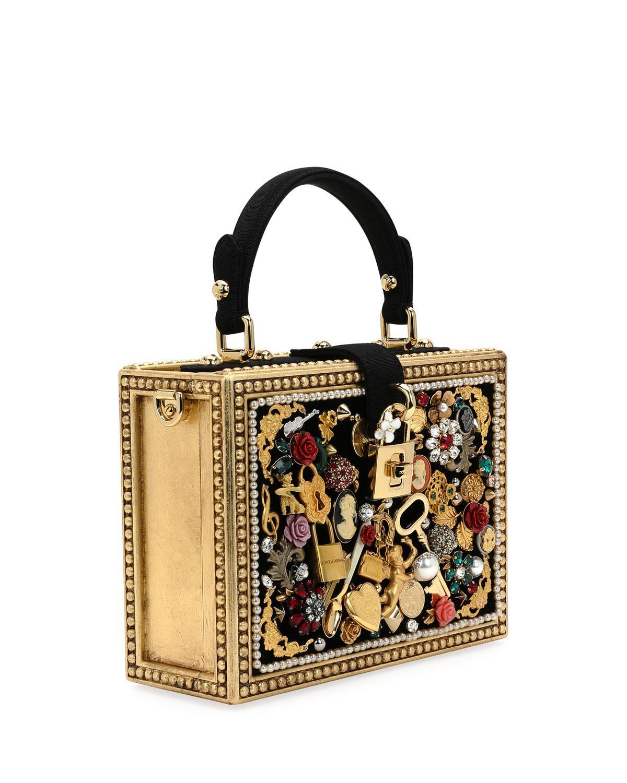 d5d2e12ebaa2 Lyst - Dolce   Gabbana Dolce Charmed Box Bag in Brown