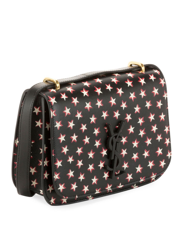 90c7c533a2 Lyst - Saint Laurent Small Spontini Star Print Leather Crossbody Bag - in  Black