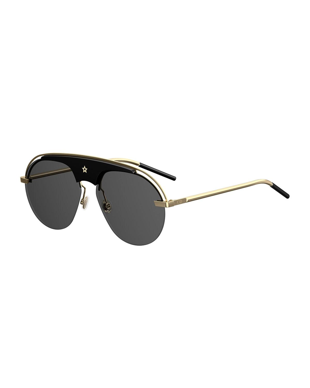 86d88e2bc308 Lyst - Dior Dio(r)evolution Aviator Sunglasses in Black - Save 52%
