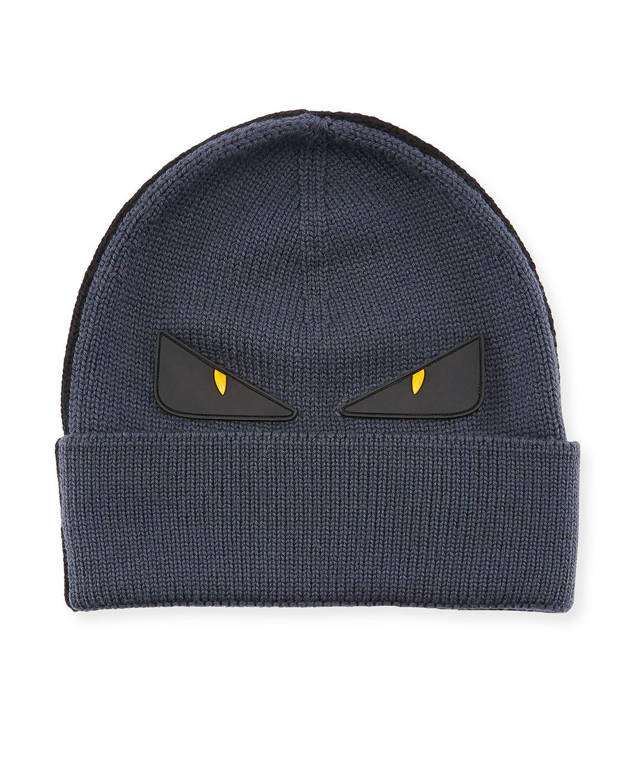 df4d2428def Lyst - Fendi Monster Eyes Wool Beanie in Black
